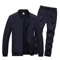 AmberHeard 2018 Fashion Autumn Winter Men Sporting Suit Jacket+Pant Sweatsuit 2 Piece Set Sportswear Mens Clothing Tracksuit Set