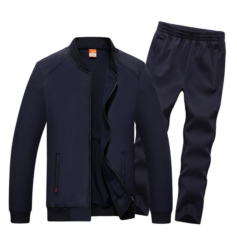 AmberHeard 2018 Mode Automne Hiver Hommes Sporting Suit Veste + Pantalon Survêtement 2 pièce Ensemble Sportswear Hommes Vêtements Survêtement Ensemble