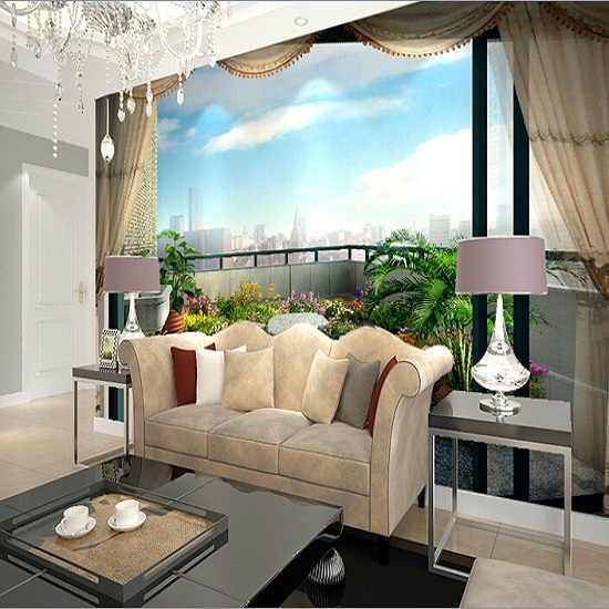 Marvelous Aliexpress.com : Buy Expanded Space Balcony Mural Wallpaper Scenery Full  Wall Murals Print Decals Home Decor Photo Wallpaper From Reliable Photo  Wallpaper ...