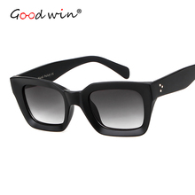 Good Win 2019 Sunglasses Women Luxury Brand Designer Hand Polish Matte Square For Men Gradient Lens Beach Shade