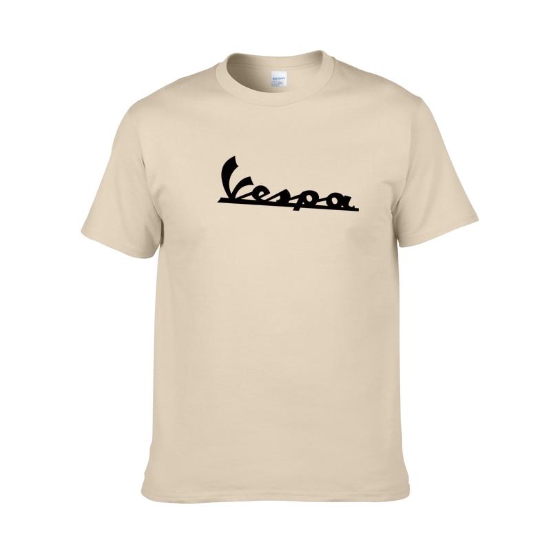6652ba9b9 brand clothing T Shirt Men 2019 Funny Vespa T-shirt 100% Cotton Summer Short