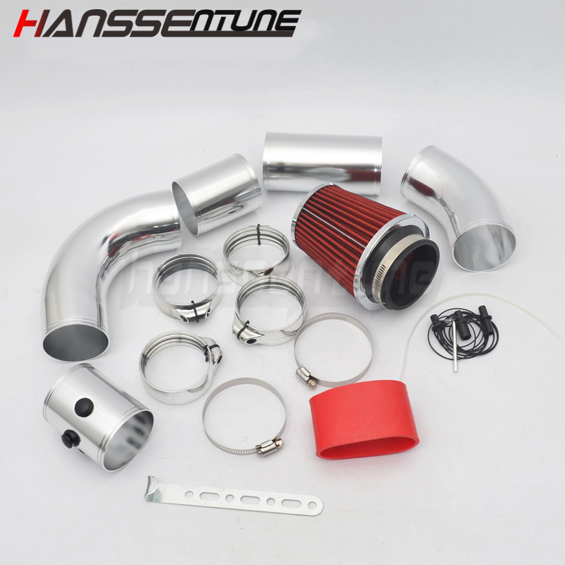 Filtre à air universel voiture moteur filtre à Air tuyau d'admission Tube en aluminium Kit tête de champignon productivité 3