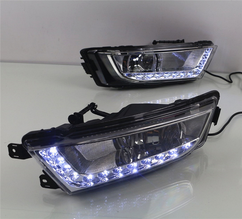 Car Flashing For Skoda Octavia A7 MK3 2014 2015 2016 LED DRL Daytime Running Lights Daylight Waterproof Signal car Styling light-in Car Light Assembly from Automobiles & Motorcycles    2