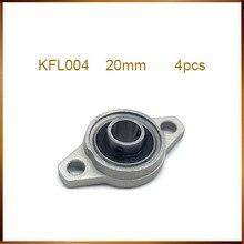 4 pces kfl004 20mm bloco de descanso rolamento liga zinco inserção linear rolamento eixo apoio cnc parte