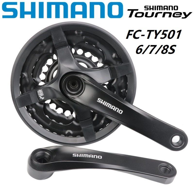 Shimano Tourney TY501 6//7//8-Speed 170mm 24//34//42t Square Crankset with
