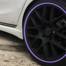 Car Wheel Hub Tire Sticker Decorative Styling Strip Wheel Rim Tire Protection Care Covers Auto Accessories Parts 8M car-styling