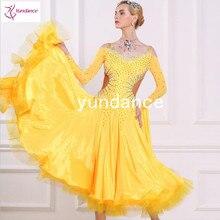 c511ea588938 Ballroom dance dress Chrisanne high quality fabric ballroom dress yellow  B-1695(China)