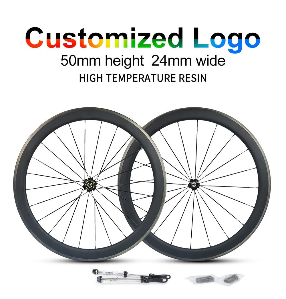 big sale 50mm carbon road bike wheels 24mm width 50mm depth UD Clincher ud chinese carbon