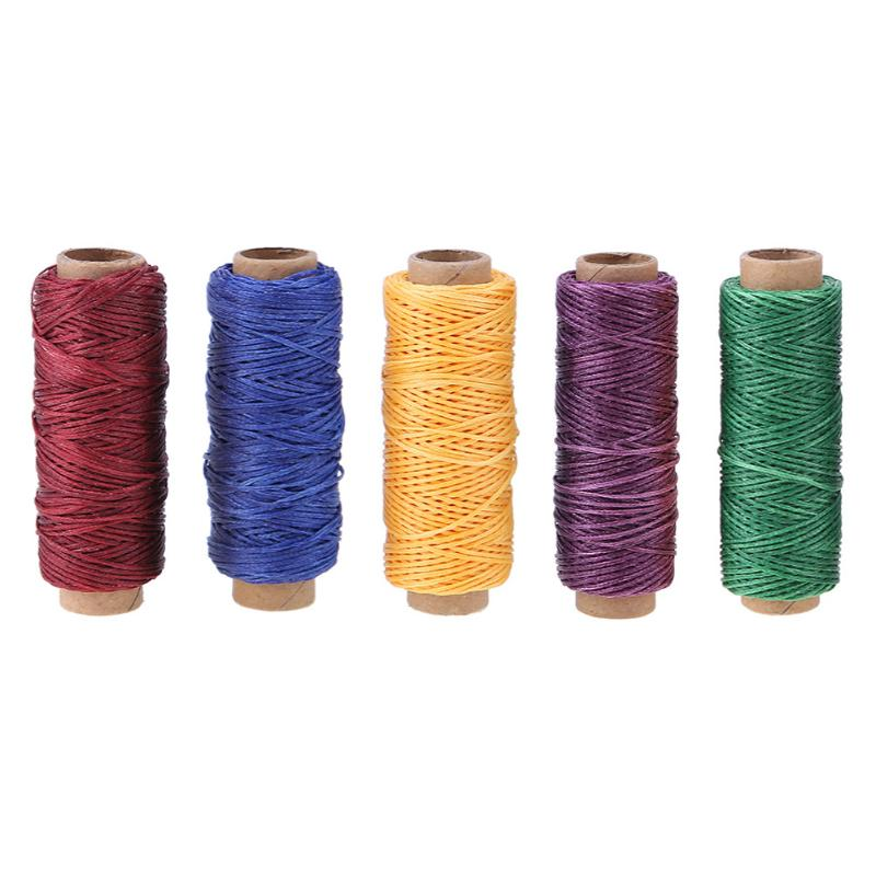 D54//2 1mm Leaf Green Waxed Polyester Flat Macramé Cord Thread 1 Metre