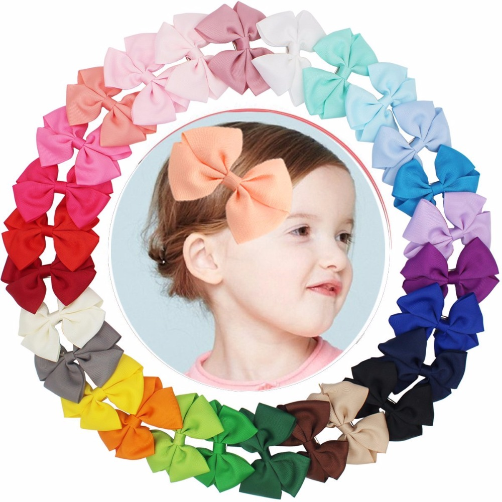12pcs Hair Bows Boutique Grosgrain Ribbon Kid Toddler Baby Girl Clip Alligator