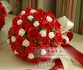 2017 Barato de La Boda/Ramos de Dama de honor Nuevo Rojo Romántico de Novia Hechos A Mano ramo de la boda Artificial Rose Bouquet de mariage