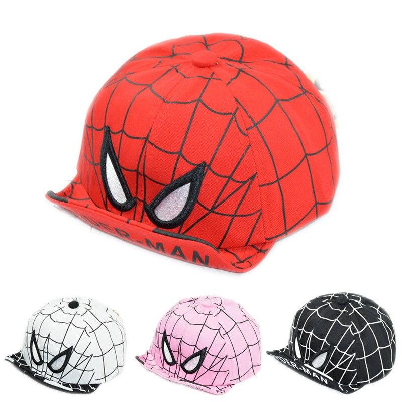 Nouveau bébé enfant casquette de Baseball dessin animé Spiderman été enfants chapeau de soleil doux avant-toit garçon fille Snapback Hip Hop casquettes DS19