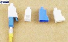 100 Uds tapa de polvo de fibra LC blanca para LC conector de fibra óptica atenuador enchufe protector plástico blanco envío gratis SX ELINK