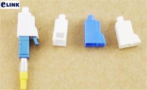 Image 1 - Bộ 100 sợi LC chống bụi tai trắng cho LC quang nối Suy hao bảo vệ cắm nhựa trắng miễn phí vận chuyển SX ELINK