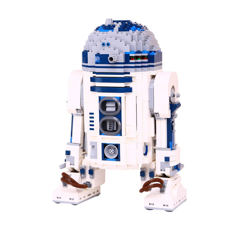 2207pcs diy compatible with playmobil Genuine Star wars Series The R2 Robot Set D2 Out of print Building Blocks Bricks LOL Toys