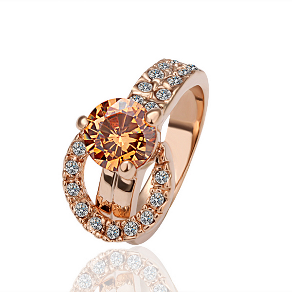 Buy Chic Style Fashion Vintage Jewelry Shinny Zircon Wedding Band Gold Rings