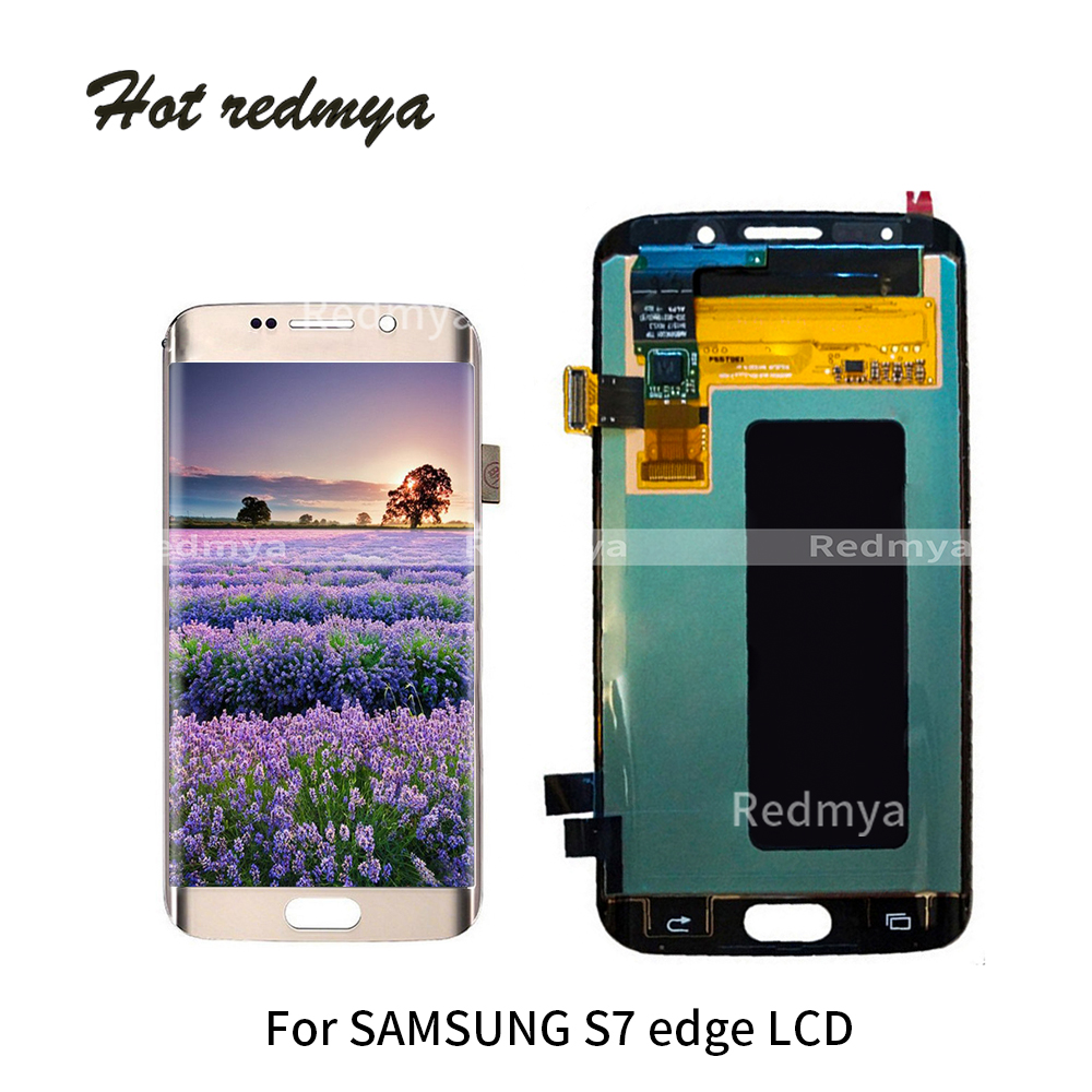 Original 5.5''For SAMSUNG GALAXY S7 EDGE G935 G935F LCD Display Touch Screen Digitizer For Samsung S7 Edge Replacement