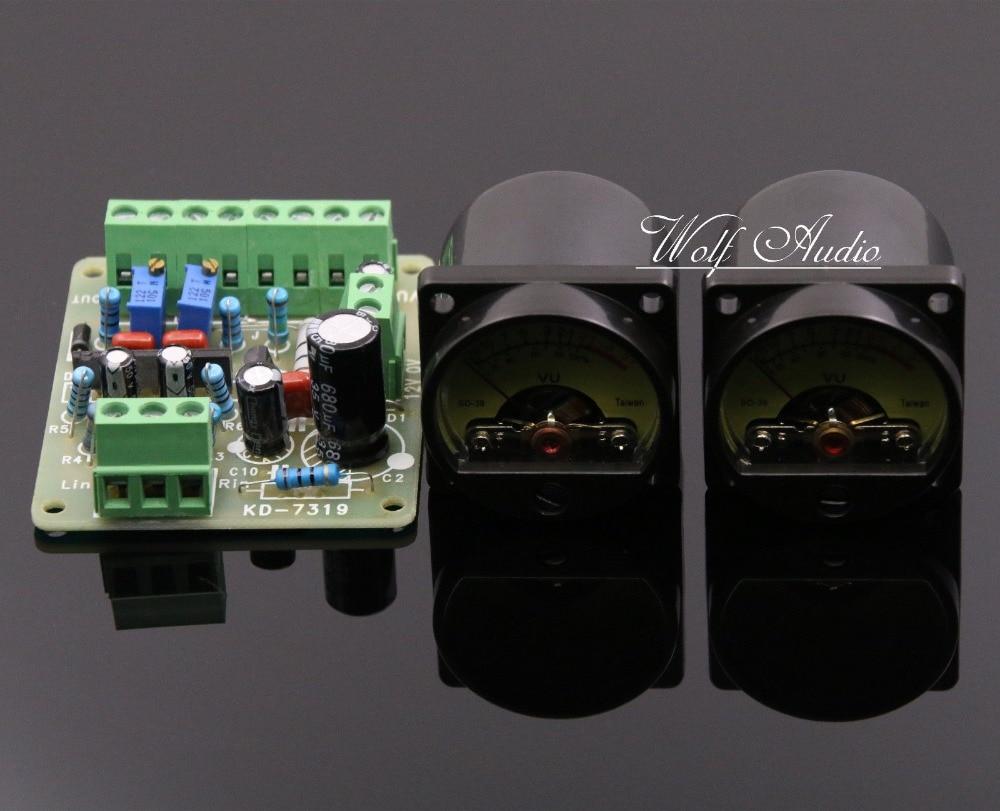 One pair audio level db level meter TA7318P VU header driver board