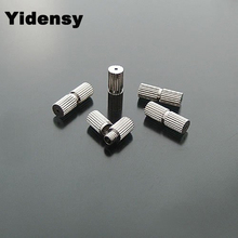 Yidensy 50pcs Copper Round Screw Clasps 7*3mm Silver Color for Necklace Bracelet Connector DIY Jewelry Making Findings Accessory