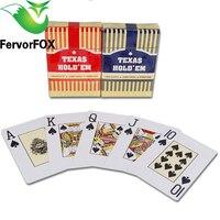 2 Sets/partij Baccarat Texas Hold'em Plastic Speelkaarten Waterdichte Frosting Poker Card Pokerstar Board Game 2.48*3.46 inch
