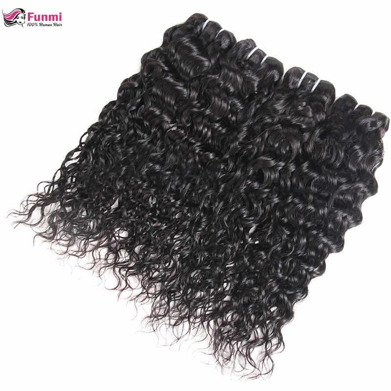 Funmi перуанские волнистые натуральные волосы, 100% необработанные человеческие волосы, 1/3/4 пучки, двойная машина, волосы для уток