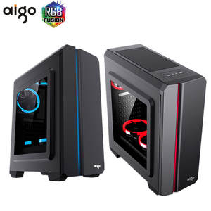 Aigo Aurora E10 Computer Case desktop computer chassis colorful rgb light bar large
