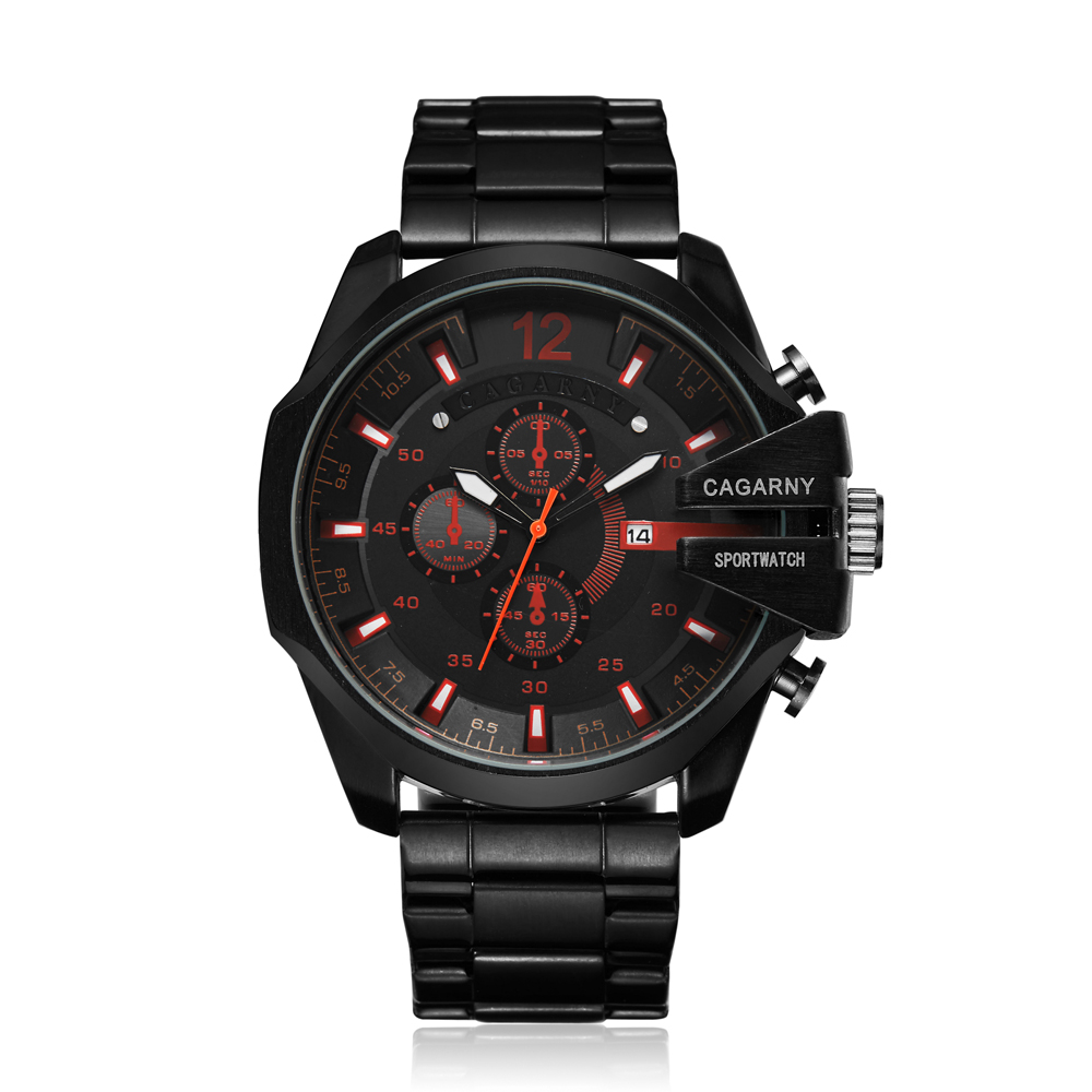 top luxury brand cagarny quartz watch for men gold steel band waterproof dz military Relogio Masculino mens watches drop shipping clock man cheap price (24)