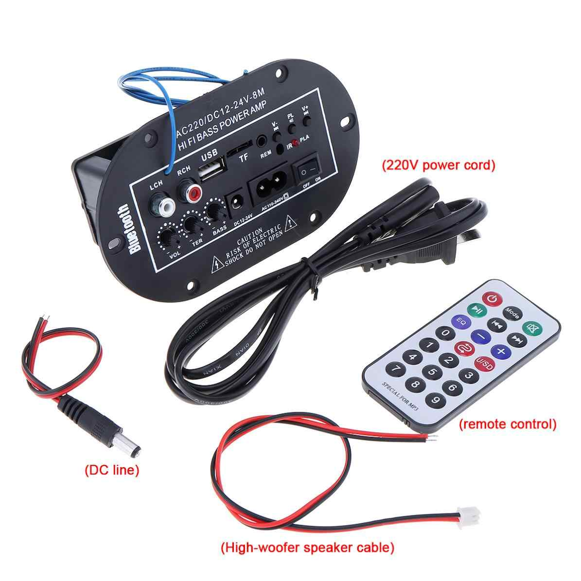 Detail Feedback Questions About 8 Inch Car Bluetooth Amplifier Hifi Subwoofer Power Bass Amp Audio Fm Radio Player For