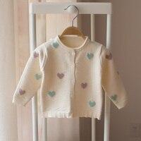 Neue 2018 frühling und herbst kinder strickjacke baby mädchen baby mode nette langärmelige pullover kinder mädchen pullover