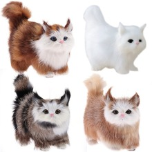 1pc Lovely Simulation Stuffed Plush Soft Cat Toys Sounding Electric Cute Doll for Kids Children Birthday Gifts