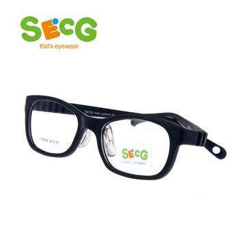SECG רך Ultralight ילדי מסגרת רפידות האף סטודנטים ילדים אופטי משקפיים מסגרת רוחק קוצר ראייה משקפיים רצועת גומי בנד