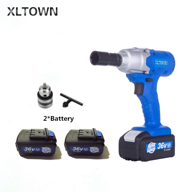 Xltown Новинка 36 В электрический ключ аккумуляторная 5000 mAh 10000 mA литиевая батарея электрический ключ крутящий момент электроинструмент