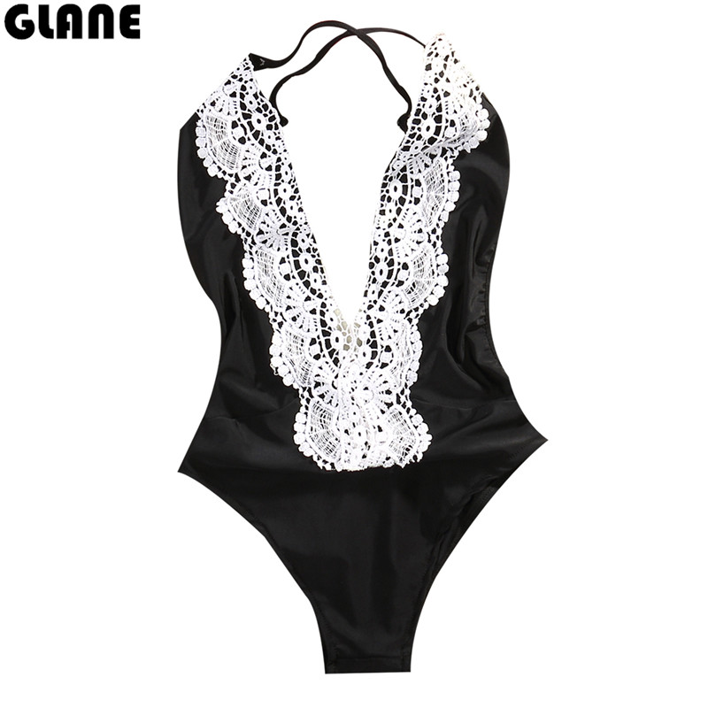 2018 Sexy Plus Size Swimwear Women One Piece Bandeau Swimsuit Push Up Bathing Suit High Cut Backless Monokini sexy women swimsuits printing one piece swimwear high cut backless sport bathing suits push up monokini hollow trikini bodysuits