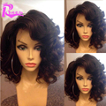 8A Human Hair Short Curly Wigs For Black Women Brazilian Virgin Hair Short Full Lace Wig Glueless Lace Front Wig For Black Women