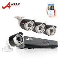 ANRAN 4CH Security System 1080N AHD HDMI DVR 720P 1800TVL Weatherproof IR Outdoor CCTV Camera Home