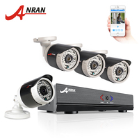 ANRAN 4CH Security System 1080N AHD HDMI DVR 720P 1800TVL Weatherproof IR Outdoor CCTV Camera Home