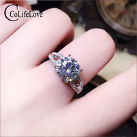 Ювелирные изделия colife 9 мм VVS класс Moissanite серебряное кольцо для вечерние 925 серебро Moissanite ювелирные изделия модное обручальное кольцо
