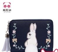 Принцесса сладкий Лолита juststar сумка Короткие Кошелек женский корейский издание кошелек нулевой кошелек мода прекрасный кошелек маленький
