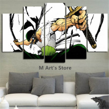 5Piece Canvas Art One Piece Poster Anime Painting Poster Prints Home Decor Modular Picture For Living Room Poster Cuadros Poster