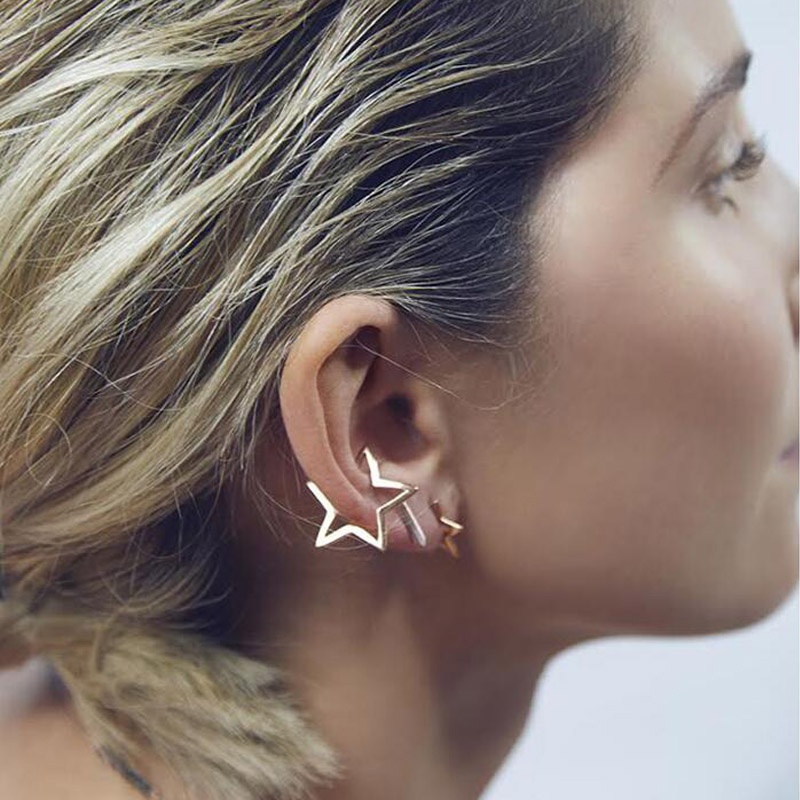 SMJEL 2019 New Fashion Simple Vintage Geometric Star Earrings For Women Brincos Birthday Dropshipping Gifts S101