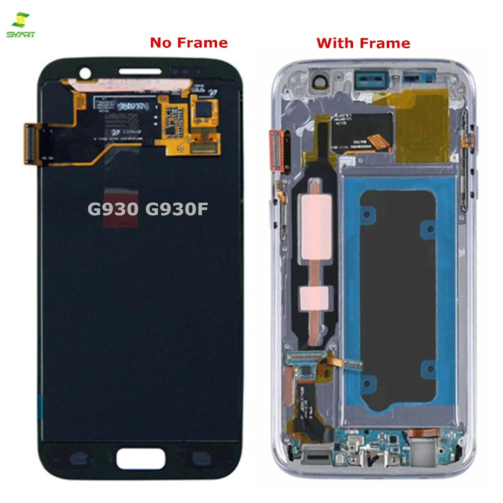 + ЖК-дисплей S7 G930 G930F для samsung Galaxy S7 ЖК-дисплей Дисплей G930 G930F G930A G930V G930P ЖК-дисплей с цифровым преобразователем сенсорного ввода в сборе