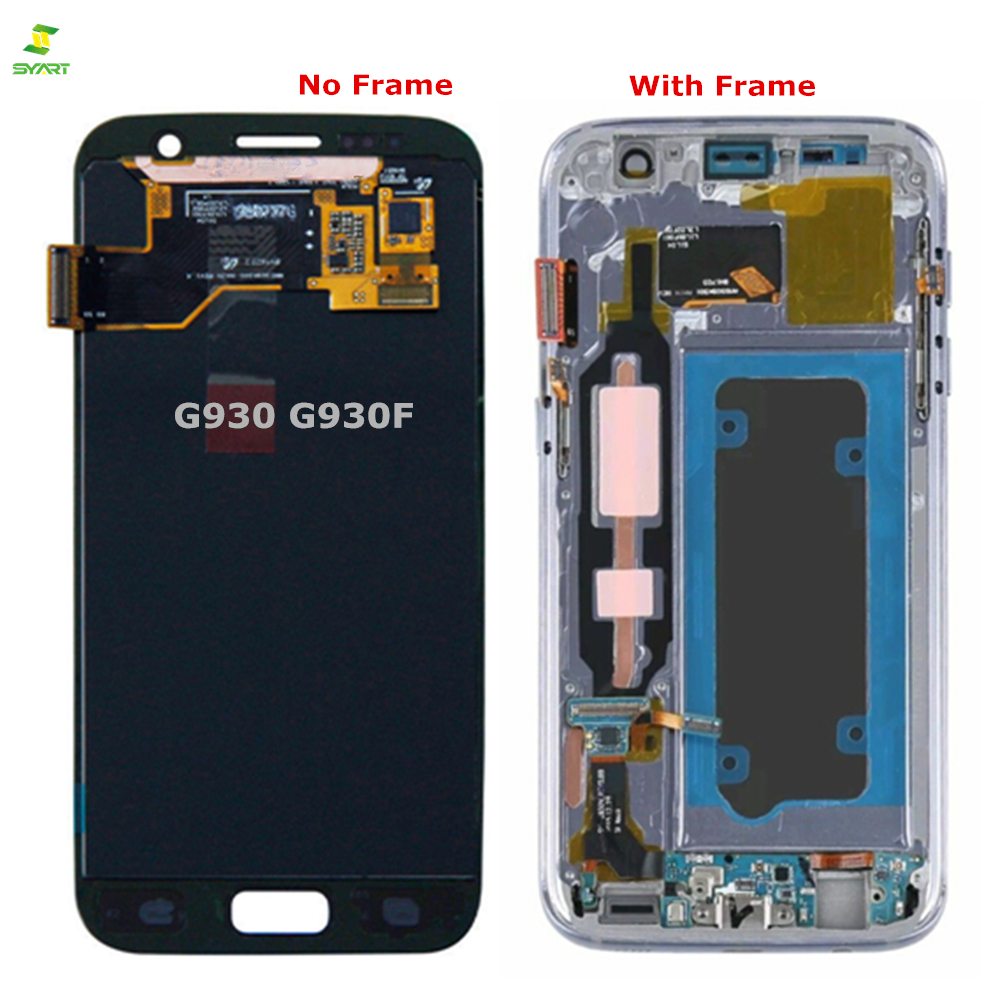 S7 G930 G930F Display Lcd Amoled Para Samsung Galaxy S7 G930 G930F G930A G930V G930P Screen Display Lcd de Toque Digitador montagem