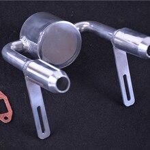 Сплав обновленная настроенная труба выхлопная труба двойная труба для 1/5 масштаб HPI Rovan Baja 5B 5SC SS KM001 002 T1000