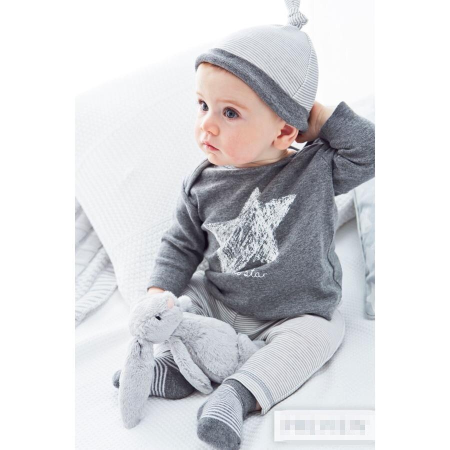 f8579365cf085 2019 Au Détail 3 pièces chapeau + t shirt + pantalons Bébé Vêtements  Ensembles bébé barboteuses combinaisons de sport bébé fille garçon pyjamas  ensemble ...