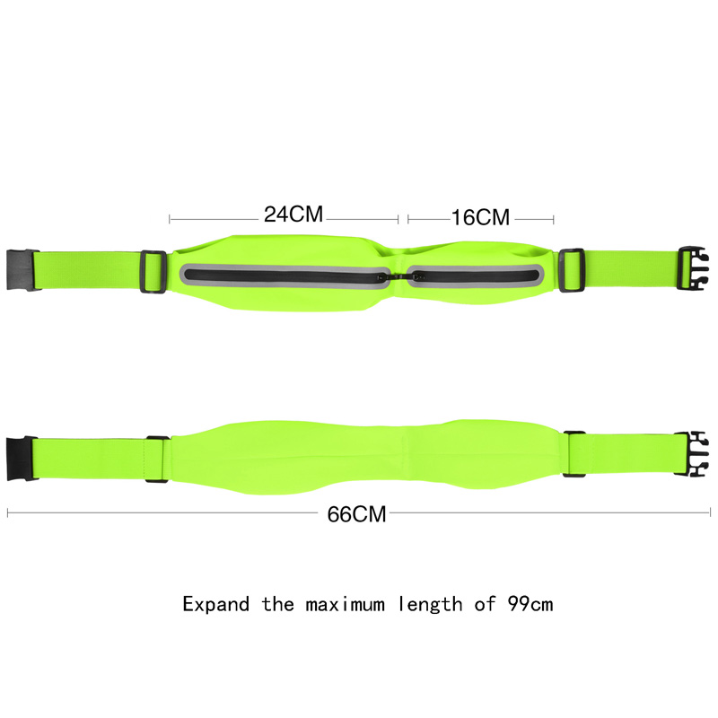 2019 New Comes Fahion Outdoor Sports Multifunction Reflector Safety Running Waist Bag Fabric Waterproof Zipper Mobile Package in Running Bags from Sports Entertainment