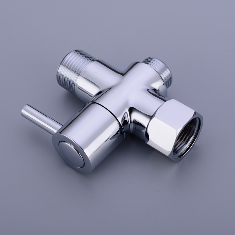 "T-Adapter Brass Toilet Bidet Sprayer Shattaf Faucet Diverter Shut Off Valve 7//8/"""