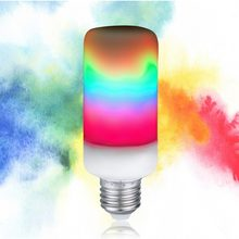 Home Decor E14 E26 E27 LED Lamp Bulb Flame Flickering Flame Effect LED Corn Light Bulb B22 E12 Colorful Holiday LED Fire Lights(China)