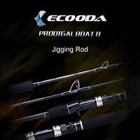 Ecooda Prodigal Japan Guide Lure Weight 60 500g Sea Boat Jigging Fishing Rod 2.1M 3 Sections Carbon Fiber Saltwater Jigging Rod