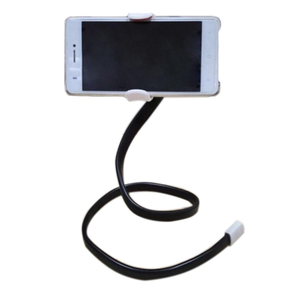 360 Вращающийся Универсальный Ленивый мобильный телефон клип держатель палка для селфи стол кровать подставка для iPhone 5S 6 Plus 5.5 Samsung andriod белый
