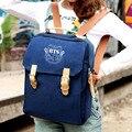 Multifuncional mochilas kpop BTS muchachos del bolso de escuela mochila de lona vintage mochila mujeres bolsas de hombro mochilas chicas lindas azul